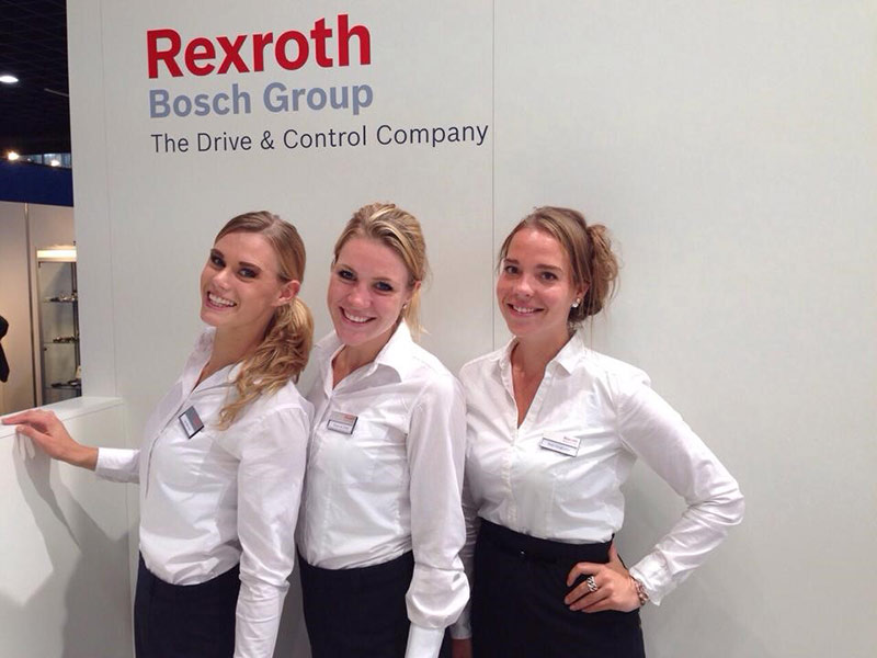 HET INSTRUMENT 2016 Rexroth met hostesses van GoodDay Hospitality